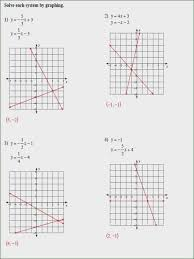 solving systems by graphing worksheet