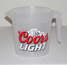 Bud Light Pitcher Coors Light Beer Rocky Mountains Plastic Pitcher Graphics