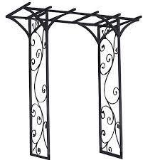 black metal garden arbor arch