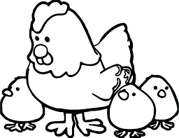 Coloring Page Chicken Xiangbaclub