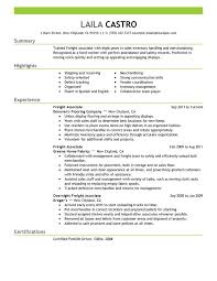 Unforgettable Freight Associate Resume Examples To Stand Out