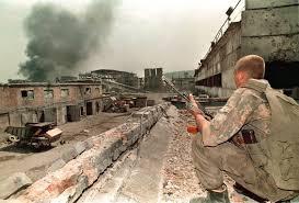 Первая Чеченская война: разрушенная улица