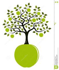 green apple tree clipart. royalty-free illustration. download apple tree green clipart p