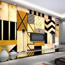 Custom 3d Foto Behang Abstracte Geometrische Decoratie Schilderen