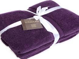 Decorative Bathroom Towels Sets Purple Towels Bathroom