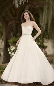 Strapless Sweetheart Sophisticated Ivory Satin Ball Gown Wedding