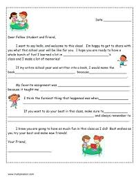 Letter Writing Template Friendly Pdf Next Years Student Free