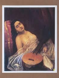 sleeping beauty of urvashi by raja ravi varma canvas print painting 27in x 22 5in