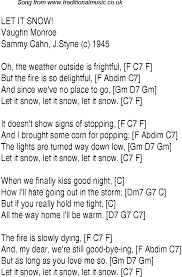 Top Songs 1946 Music Charts Lyrics For Let It Snow