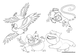 Small Picture Rio Coloring Pages