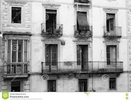 Old European Apartment Balconies Stock Photo Image - Small old apartment