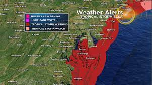 Tracking Elsa: Tropical Storm Warning ...