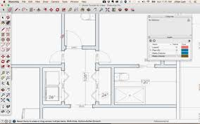 how to add doors windows to a 2d interior floor plan in sketchup