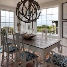 coastal dining room. White Coastal Dining Room With Chandelier O