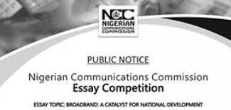 ian communications commission ncc essay competition   ian communications commission ncc essay competition 2014