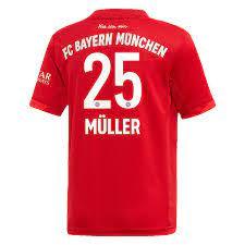 Men's adidas Thomas Müller Red Bayern Munich 2019/20 Home Replica Player  Jersey