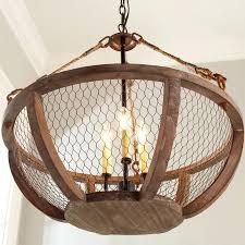 en wire chandelier wood and s en wire chandelier orb