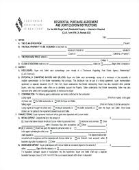 Home Purchase Agreement Form Free Impressive Home Purchase Agreement Forms Free House Template Residential And