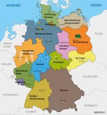 5 / 5 1159 мнений. Deutschland Karte Bundeslander Landeshauptstadte Hauptstadt Foto Poster Wandbilder Bei Europosters