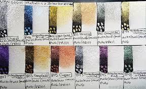 New Van Gogh Metallic Interference Watercolor Pan Set