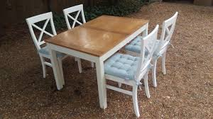 john lewis extending dining table and 4 chairs