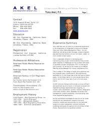 Sample Engineering Resume Resumes For Civil Internship Mechanical
