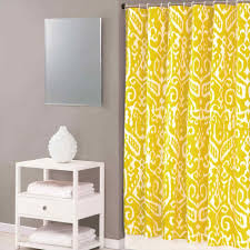 Country Yellow And White Shower Curtain Shower Curtains Bathroom - Better homes bathrooms