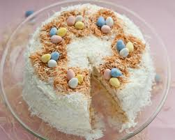 Easter Coconut Cake Cafe Johnsonia