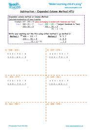 Subtraction - Expanded Column Method HTU - TMK Education