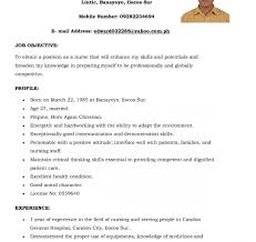 Stirringursing Resume Format Cv For Staffurse India Writing Sc In