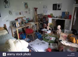 Messy Teenage Bedrooms Messy Untidy Teenage Bedroom Of Art Student Stock Photo Royalty