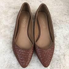 aldo shoes aldo women s brown crisscross leather flats shoes