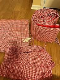 home garden crib bedding red 1250c4
