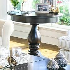 round entry table furniture home round side table with turned pedestal tall entry table mirror living room furniture