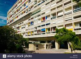 La Cite Radieuse Le Corbusier Marseille Provence France Stock