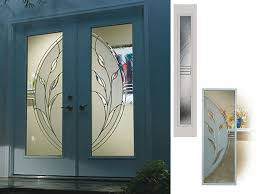 silhouettes large photos of manhattan collection of decorative glass inserts for front doors