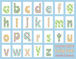 alphabet picture cards alphabet lacing cards 101 ways to teach the alphabet gift of