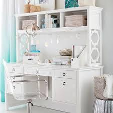 White desk with hutch Executive Pbteen Elsie Storage Desk Pbteen