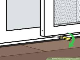 how to fix a sliding door image titled remove a sliding screen door step how to fix a sliding door nice glass
