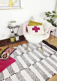view in gallery black and white striped rug