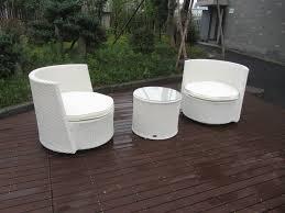 waterproof white resin wicker chair set
