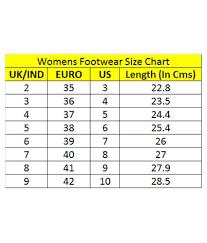 Us Uk Footwear Size Chart