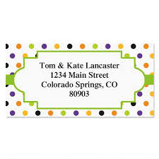 Labels With Border Enchanted Border Address Labels 4 Designs