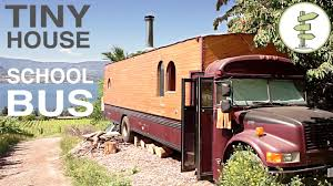 tiny house school bus. School Bus Converted Into Full Time Tiny House - Amazing Custom RV! YouTube F