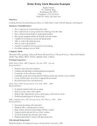Clerk Resume Samples Directory Resume