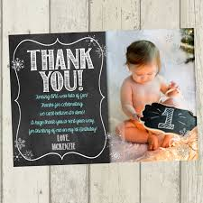 snowflake thank you cards winter onederland thank you card first birthday thank you