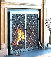 stained glass fireplace doors cover door covers s gas soot fireplaces direct