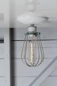 industrial modern lighting. Industrial Modern Lighting - Wire Cage Light Ceiling Mount G