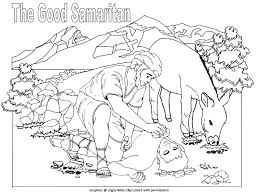 36 The Good Samaritan Coloring Pages Sunday School New Testament