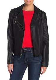 guess side lace up faux leather jacket